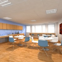 office interior cafe 3d max