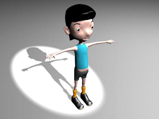 3ds max cartoon boy01