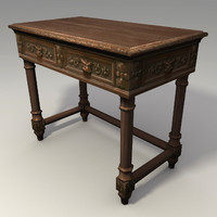 Low Poly Carved Table 3d Model
