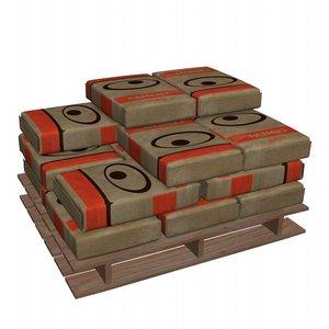 3d cement bags