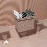 chess table 3d max