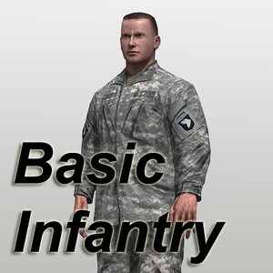 infantry soldier character 3d model