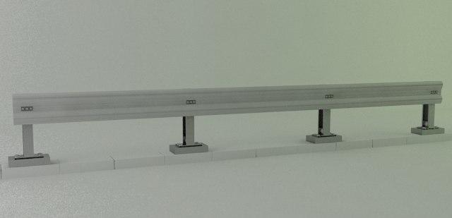 crash barrier type 1 3d model
