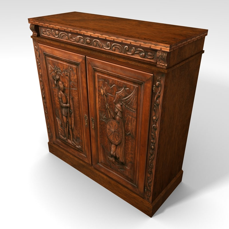 3d medieval themed cabinet