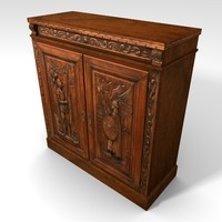 Low Poly Medieval Themed Cabinet