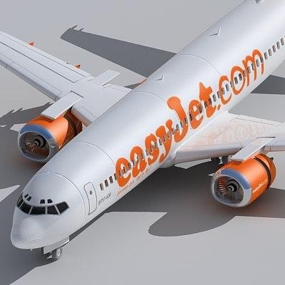 3d model 737-400 easyjet