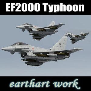 eurofighter typhoon italian 3d model