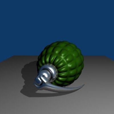 cartoon grenade 3d model