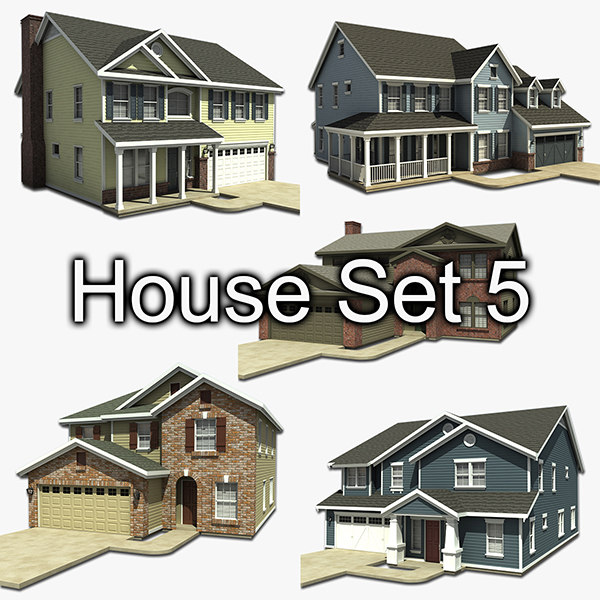 house set 5 3d 3ds