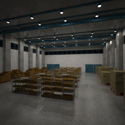warehouse ware 3d model