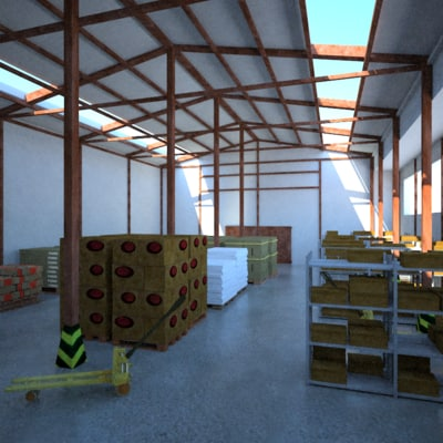 3d warehouse ware model