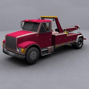 ready wrecker tow truck 3d model