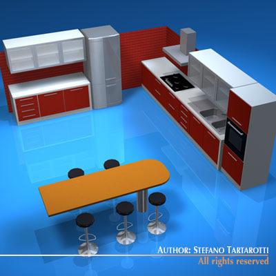 3ds kitchen furniture