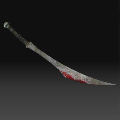 wow sword 3d obj