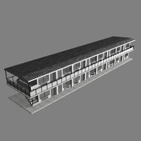 3d model motel rooms doors