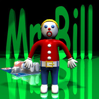 3d model mr bill rigged character