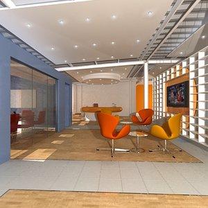 office interior reception 3d model