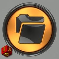free button web design 3d model
