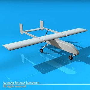 3d pegasus uav aircraft plane model