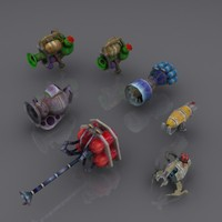 Sci FiRobo Weapons pack