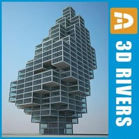 3d model rodovre skyscraper tall