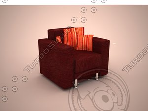 3d model chair sofa nika