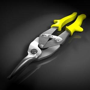 3d sheet metal shears model