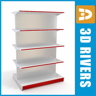shelving shelf 3d model