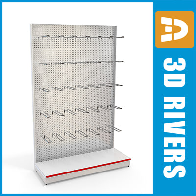 perforated shelving 3ds