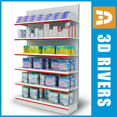 maya shelving supermarket equipment