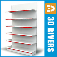 3d supermarkets display shelf model