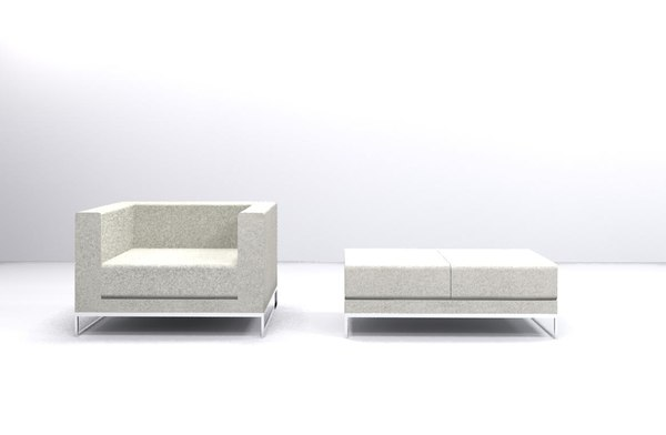 Sofa Contemporary with bench