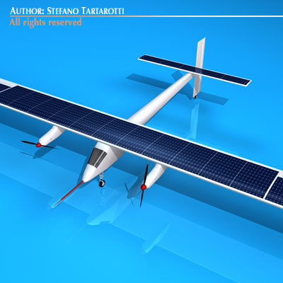 solar impulse 3d obj