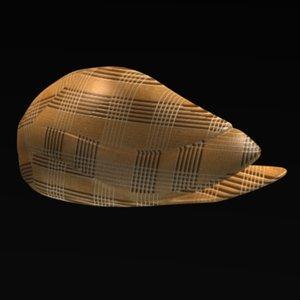 3d model of hat summer