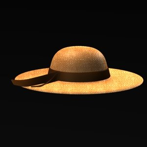 3d model hat summer