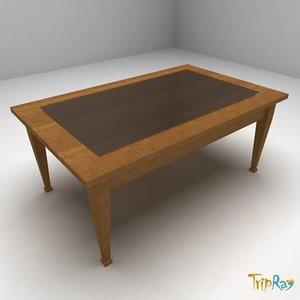 free obj model coffee table