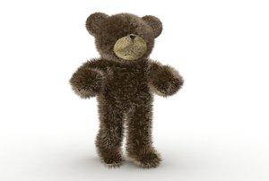 3dsmax fuzzy teddy bear rigged