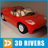 Tesla roadster by 3DRivers
