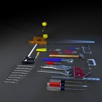 3d hand tool model