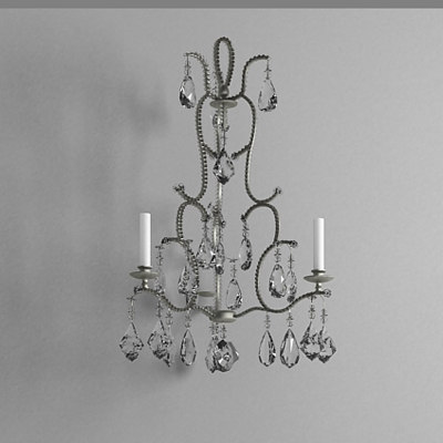 3d chandelier wall light