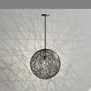contemporary pendant light 3d max