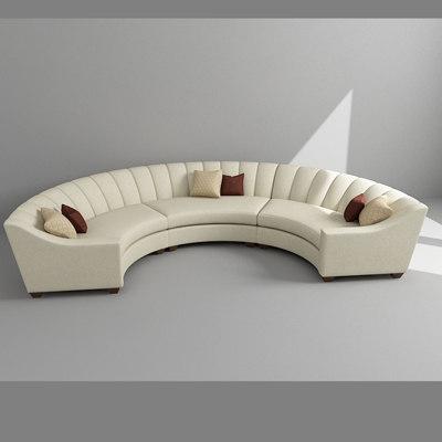 3d model arc sofa
