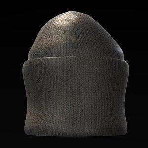 3d model hat winter