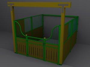 horsebox 3d max