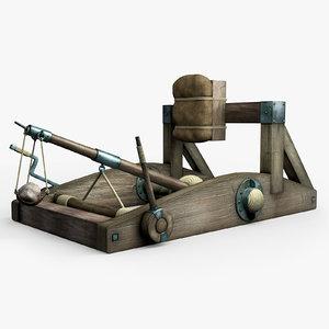 3d medieval onager model