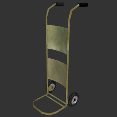 dolly hand cart 3d 3ds