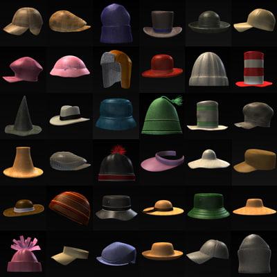 3ds max hats caps