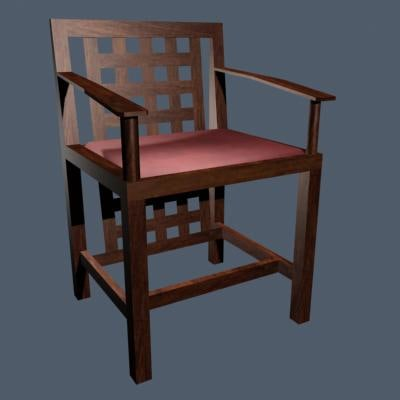 charles rennie mackintosh dining 3d model