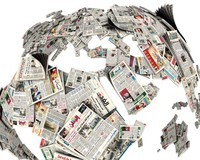 newspaper globe 3d model