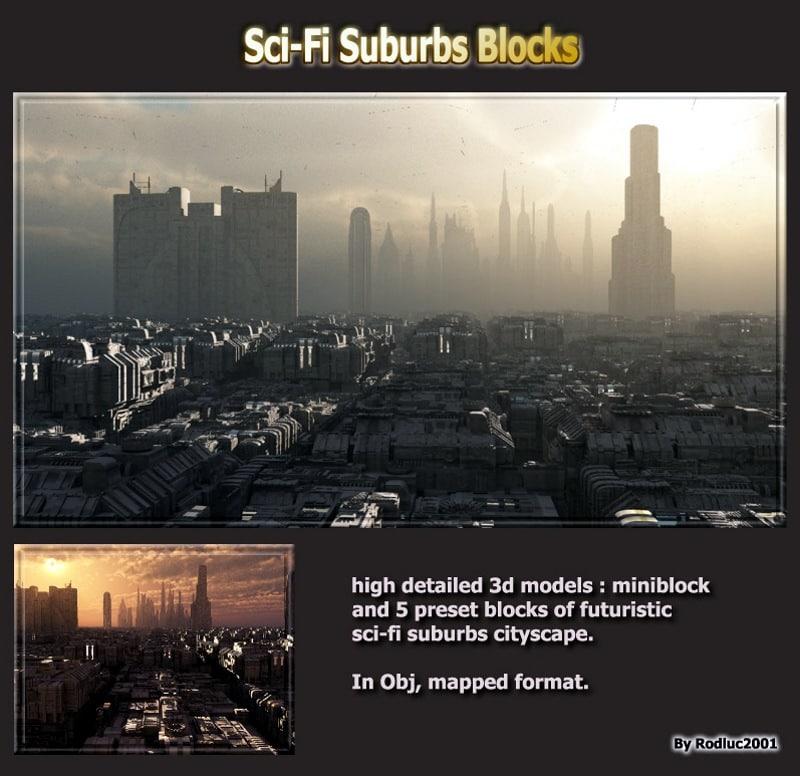 blocks cityscape 3d model